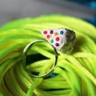 Cutetreats Rainbow Cake Ring Nice Accessory