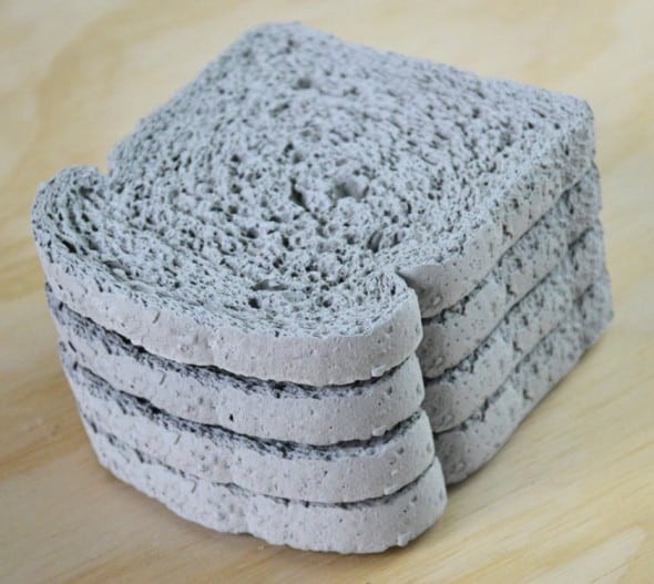 Concrete proof that toast goes well with coffee.