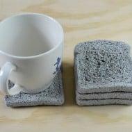 Default Whole Wheat Concrete Coasters Cool Cup Mat