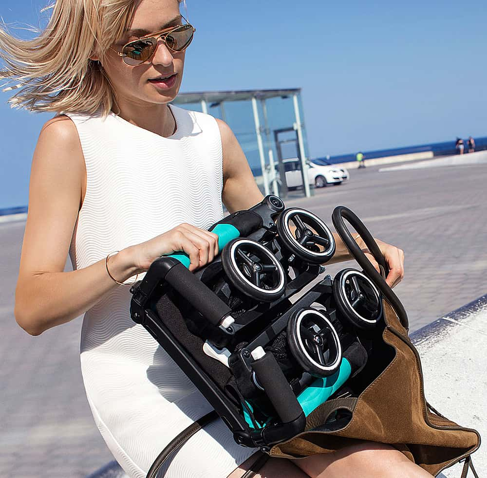 Portable stroller that can fit in your bag.