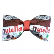 Geek With Me Nutella Inspired Bow Tie  Hair Bow Nice Clip Design