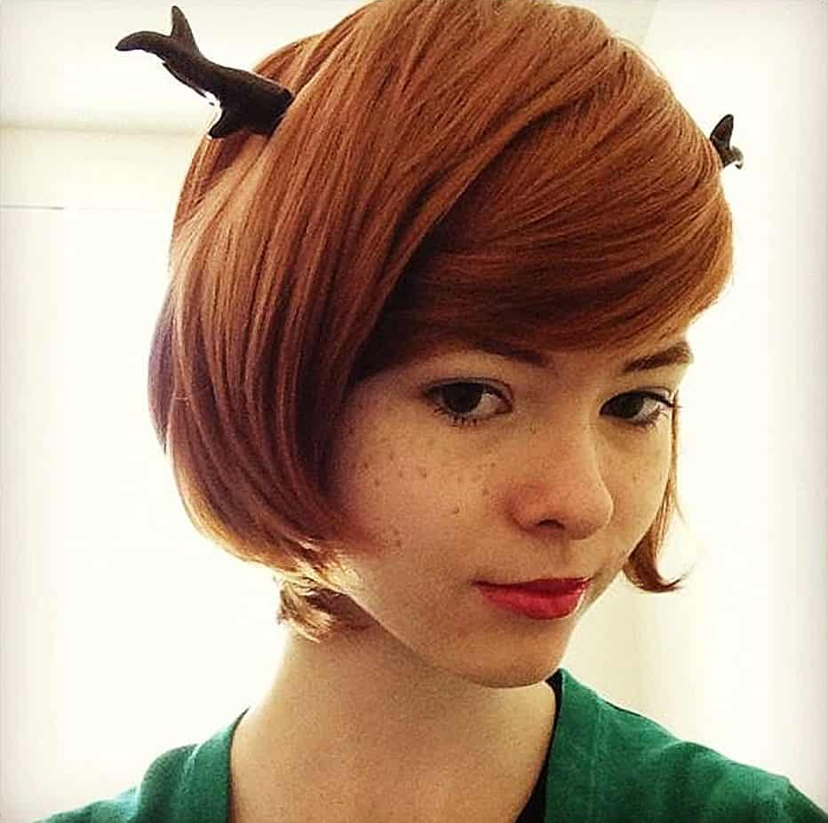 "Be a ""deer"" and wear these antlers, won't you?"