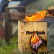 Plow & Hearth Blazing Block Portable Bonfire Easy Fire Starter