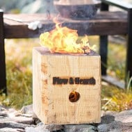 Plow & Hearth Blazing Block Portable Bonfire Great for Camping