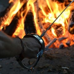Real men use Zorro swords to roast their marshmallows!