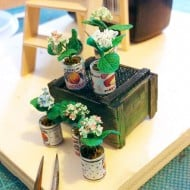 Studio Viola Miniature Clay Flower In A Tiny Can Beautiful Home Decor