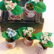 Studio Viola Miniature Clay Flower In A Tiny Can Nice Interior Design