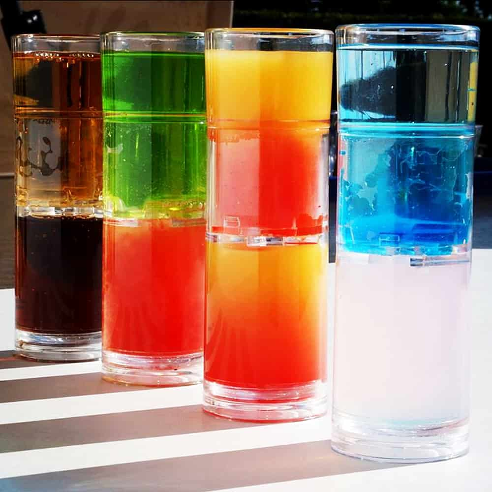 Perfect bomb shots in a single glass.