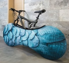 Put a sock on your bike and keep your floor dirt free.