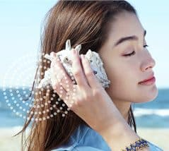 Put the shell next to your head and listen to the top 40.