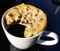 A coffee cup to keep your cookie and doughnut warm.