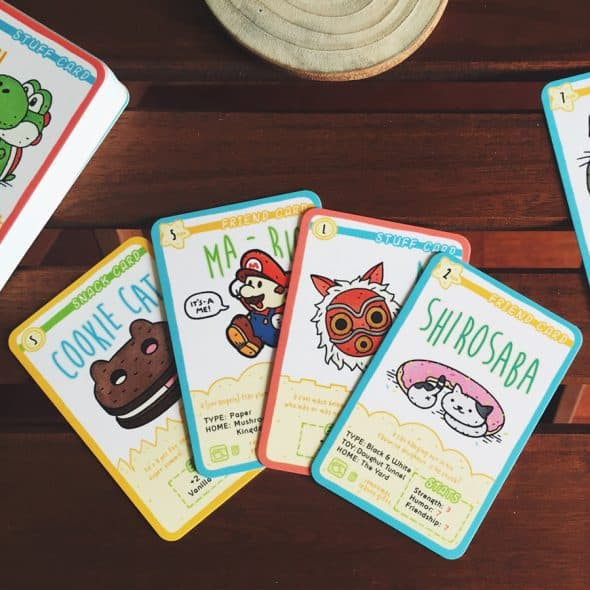 Play as your favorite characters in a trading card game.