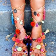 Mabu Gladiator Pom Pom Sandals Cool Footware