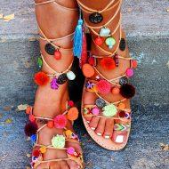 Mabu Gladiator Pom Pom Sandals Good for Fashion