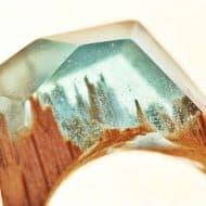 My Secret Wood Landscape Ring Cool Accessory