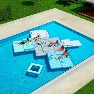 Pigro Felice Modul'Air Inflatable Sofa Set Good for Swimming Pool