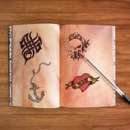 Suck UK Tattoo Art Drawing Notebook Awesome Office Supply
