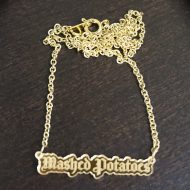 Supah Gothic Mashed Potatoes Mirror Acrylic Necklace Good for Fashion