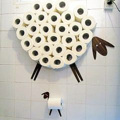 Store a wool lot of TP on your wall.