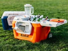 Portable party disguised as a cooler.
