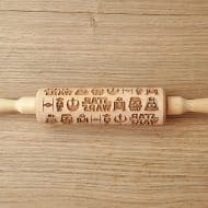Favourite Cookies Star Wars Engraved Rolling Pin Nice for Cookie Lover