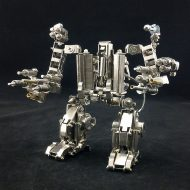 Mech World Metal Robot Cellphone Holder Cool Mobile Phone Stand