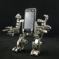 Mech World Metal Robot Cellphone Holder Nice Gadget