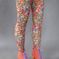 Pretty Snake Sprinkles Leggings Nice Stretchy Fabric