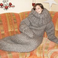 Strickolino Knitted Turtleneck Sleeping Bag Ideal for Icy Cold Winter Days
