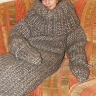 Strickolino Knitted Turtleneck Sleeping Bag Knitted from Pure Wool