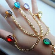 The Beee Hive Avengers Inspired Infinity Gauntlet Handchain Accessories for Women