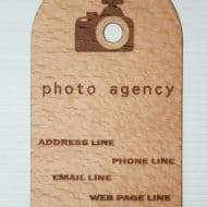 Wood Power Wooden Business Card Cool Marketing Idea