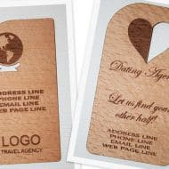 Wood Power Wooden Business Card Nice Novelty