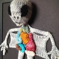 aKNITomy Knitted Alien Autopsy Cool Home Decoration