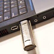 Backyard Brand Flash Harp USB Harmonica Nice Hard Drive Design