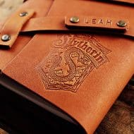 Curtis Matsko Harry Potter Refillable Personalized Leather Notebook Made from Premium Leather