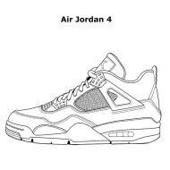 Da Vinci Air Jordan Coloring Book Great for Shoe Lover
