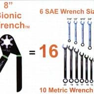 Logger Head Tools Bionic Wrench 8 Inch Adjustable Wrench Easy to Use Hand Tool