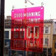 Moonish Goods Good Morning Typographic Sun Catcher Great for Decorating Windows