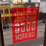 Moonish Goods Good Morning Typographic Sun Catcher Novelty Item