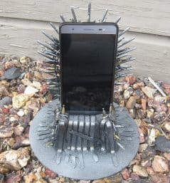 Place your phone on the Iron Throne.