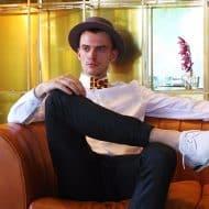 Rommy De Bommy Waffle Bowtie Men Fashion