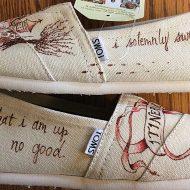 Shoe Designs By Allison Mischief Managed Toms Handmade Item