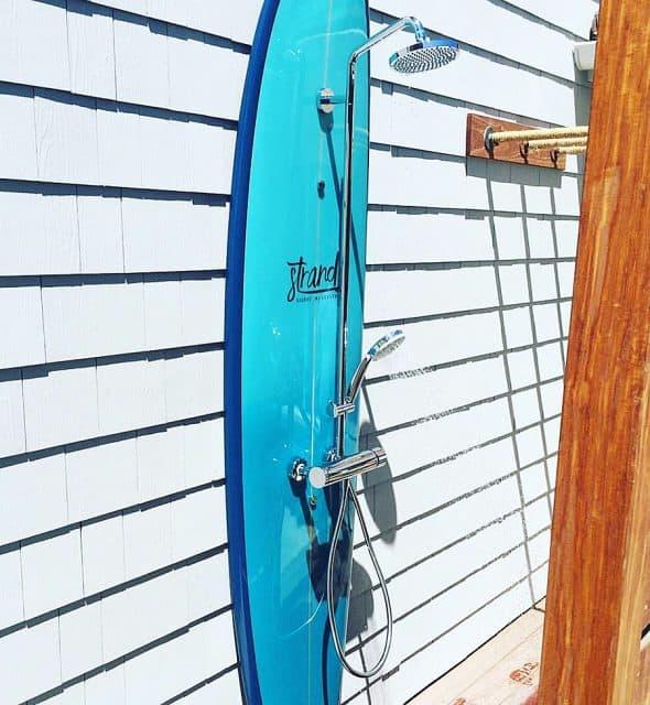 Shower like a true surfer.