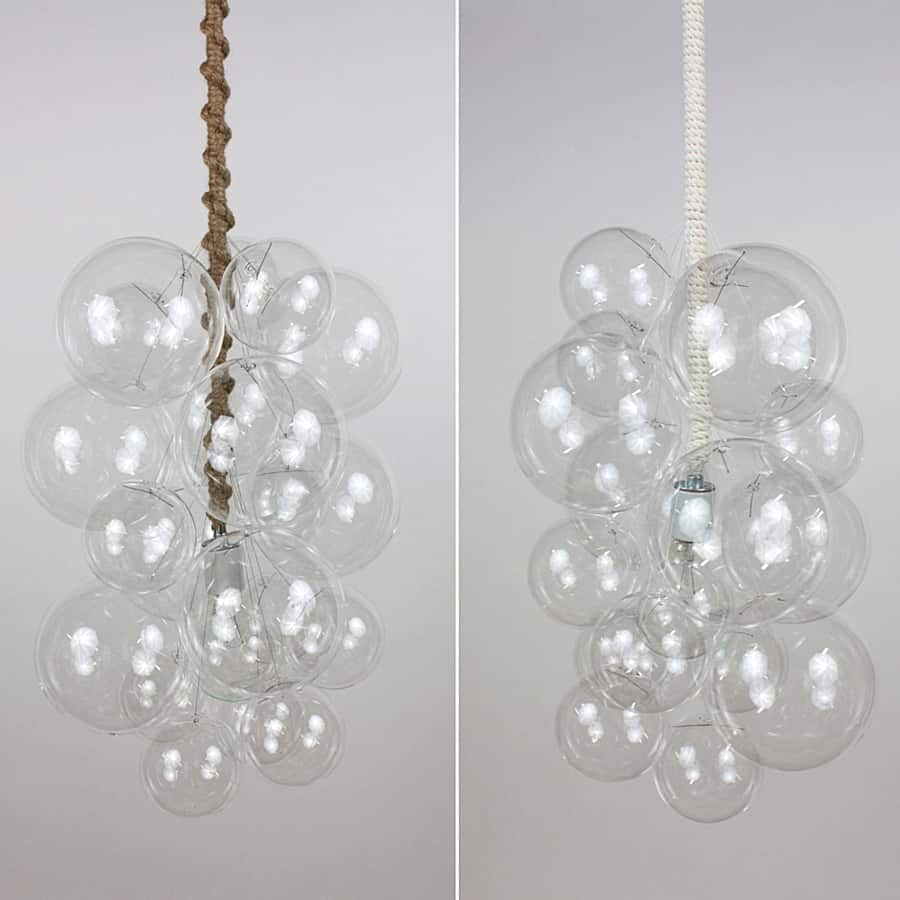 The Light Factory Waterfall Bubble Chandelier