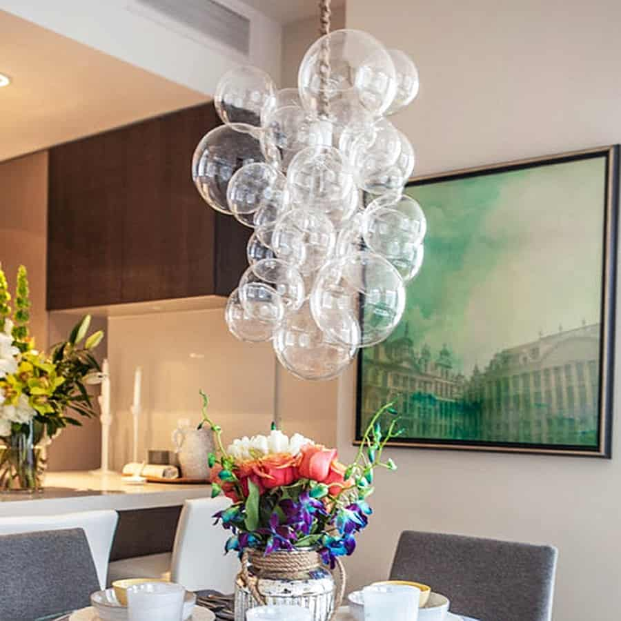 Bubbly light for a magical dining delight.