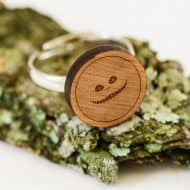 Wooden Accessories Co. Wooden Cheshire Cat Ring Fashionable Ring