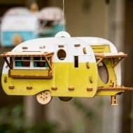 1Man1Garage Vintage Camper Bird House Made from Birch Wood
