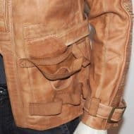 Magnoli Clothiers FinnPoe Leather Jacket Large Hand Warmer Pocket