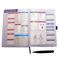 Radiance Personal Lifestyle and Nutrition Planner Real Si Bin Massage Stone